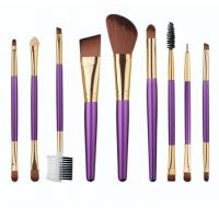 China Portable Wholesale 9 in 1 Purple Make Up Tool Set wholesale
