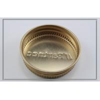 Quality 43mm pharmaceuticals / healthcare products gold tinplate screw cover caps with embossed logo for sale