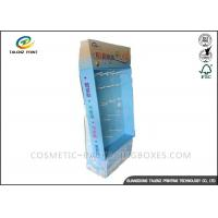China Advertising Cardboard Stand Up Display , Cardboard Display Shelves Sky Blue Appearance wholesale
