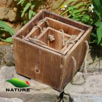 China Wood product » Wood planter & pot » Squared Shaped Wood Flower Planter for Garden wholesale
