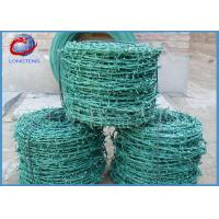 China Galvanized Green PVC Barbed Wire Fence for Highway Isolation Protection wholesale