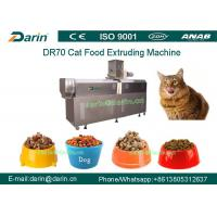 DR70 SUS304 Multi function Cat Food Snacks Double Screw Processing Line