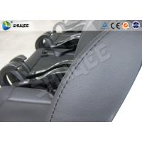 China Black / Red Genuine Leather 5D Movie Theater , Fiberglass Chair Electronic System wholesale