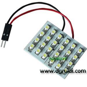 China Led dome led light interior reading bulb led 24pcs 3528 SMD car top lighting wholesale