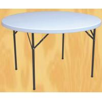 China sell 4 foot round folding banquet table/plastic foldable banquet table wholesale