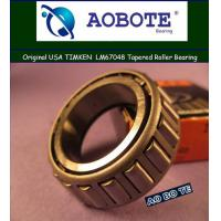 China Timken Tapered Roller Bearing LM67048 , ABEC-3 Single Row for Automotive wholesale