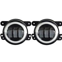 China CREE Jeep Wrangler Fog Lights , 1800lm Angel Eyes Halo Lights For Jeep Wrangler wholesale