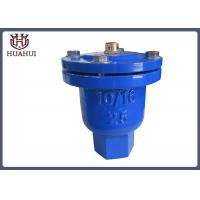 China Screw Connection Air Release Valve Blue Color Ductile Iron With Stainless Steel Ball wholesale