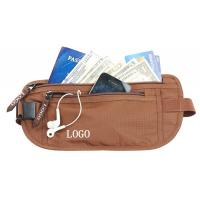 China Waterproof Security Rfid Blocking Money Belt With Passport Pouch wholesale