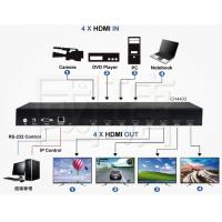 Buy cheap Matrix Multi HDMI Video Wall Controller Viewer Switch Support 4K 30HZ from wholesalers