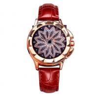 Quality GUOU Ladies Leather Band Japanese Quart Movment Waterproof Rotatable petal dial for sale