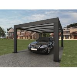 China Anthracite Garden Shade Netting / Carport Cubus Single Genua Induction Garage wholesale