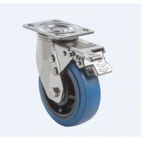 SUS304 Stainless Steel PU Caster Wheel Heavy Duty Dual Ball Heat Treated for sale