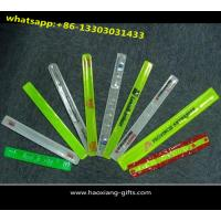 China Pvc reflective custom reflective band wide slap bracelet for sale wholesale