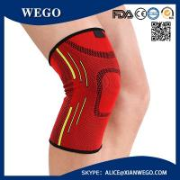 China Sports Knee Brace Compression Sleeve Elastic Non-Slip 3D Circular Knitti wholesale