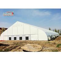 China Movable White PVC Aluminum Expo TFS Curved Tent 40m Clear Span with Air Conditioner wholesale