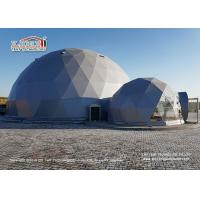 China Flame Retardant 20m Geodesic Dome Tents For 500 People / Outdoor Tent Wedding wholesale