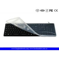 China Full Keys Black Waterproof Keyboard With Removable Silicone Protecting Cover wholesale