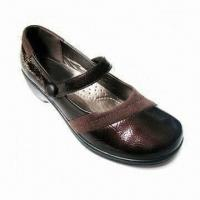 China Women Flat Dress Shoes with PU Upper and Outsole, Available in 35 to 41 Inches Sizes wholesale