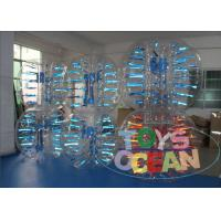 China Light Shinning Inflatable Human Body Bumper Ball Soccer Ball 1.5m Blue Red wholesale
