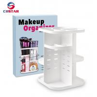 China 360 rotating glam caddy spinning makeup organizer stand cosmetic store storage display shelf wholesale