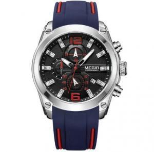 China Wholesale Megir Men Silicone Strap Chronograph Quartz Wrist Watches Waterproof 30m Luminous Men Leisure Watch  2063G wholesale