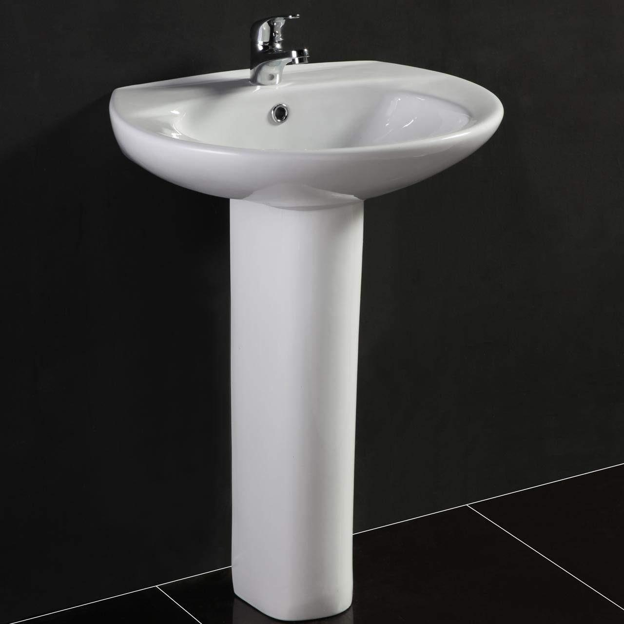 China 800*480*180mm White S1324 Cabinet face free standing wash basins Rectangular wholesale