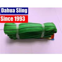China Green Heavy Duty Polyester Endless Round Slings 2 ton for port loading on sale