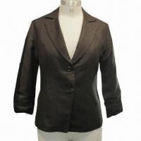 China Linen/Rayon Women's Casual Blazer, OEM and ODM Orders are Welcome wholesale