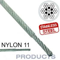 China Clear Coated Nylon 11 Stainless Steel Metal Wire Rope 7x7 For Sailboat Lifeline wholesale