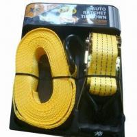 China Yellow PMS 142C PES strap tie down, 2000kg breaking force wholesale