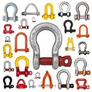 China Galvanized Stainless Steel Shackles , G2130 Bolt Type 1/2 Inch Screw Pin Anchor Shackle wholesale