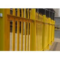 China PVC Coated Metal Palisade Fence Panels European Style For Road / Railway wholesale