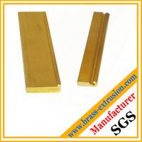 China brass copper alloy extrusion profiles section hardware OEM wholesale