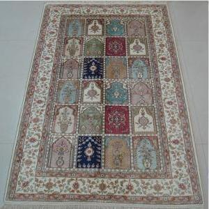 China Handmade Artificial Silk Carpet on sale