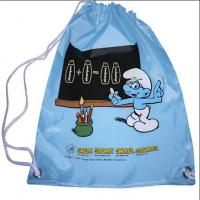 Wholesale custom full color non woven drawstring bag with logo printing from china suppliers