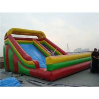 China Wet / Dry Use Inflatable Slippery Slide , 12m Big Blow Up Water Slides For Rent wholesale