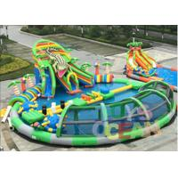 China Giant Mobile Amazing Inflatable Water Park Swimming Pool With Crocodile Slide wholesale