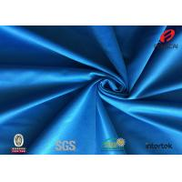 China Durable 100 Polyester Tricot Fabric , Dark Blue Knitting Fusible Interlining Fabric on sale