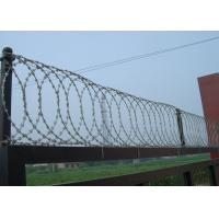 Buy cheap Concertina Hot Dipped Galvanized Razor Barbed Wire BTO-22 Two Cilps 0.5mm from wholesalers