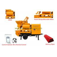 China Double - shafts Concrete Mixer Pump Trailer Hopper Capacity 800L wholesale