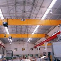 China 5t Single Girder EOT Crane/ Overhead Crane With Monorail Hoist For Indoor/Outdoor wholesale