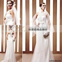 China embroidered lace wedding gowns,  graceful empire lace wedding gowns 90025 wholesale