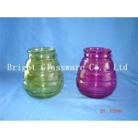 China colorful glass candle jars, candle container,  candle holder sale wholesale