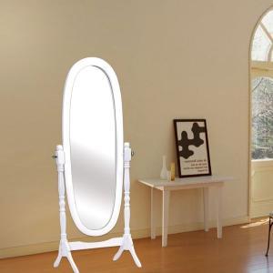 China Tiltable Women White Wooden Dressing Mirror Full Length For Living Room wholesale