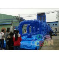 China Colorful Adult Bounce Inflatable Water Slide Rental Amazing For Lake wholesale