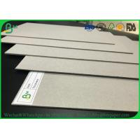 China Hard Stiffness 2mm 3mm Recycled Grey Card Board / Grey Chipboard For Book Covers wholesale