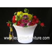 China Outdoor Plastic PE illuminated glow in the dark flower pot for family, wedding , party wholesale