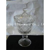 China wholesale wedding party plates glass candy stand, glass fruit plates with lid wholesale