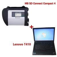 China 2017.12V Wireless MB SD C4 Mercedes Diagnostic Tool With I5 CPU 4G Memory Lenovo T410 wholesale